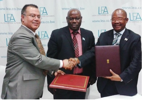 The MoU was signed between Mr. Ravindra Nath, CMD, NSIC and Dr. Tebogo Matome, CEO, Local Enterprise Authority (LEA), Botswana